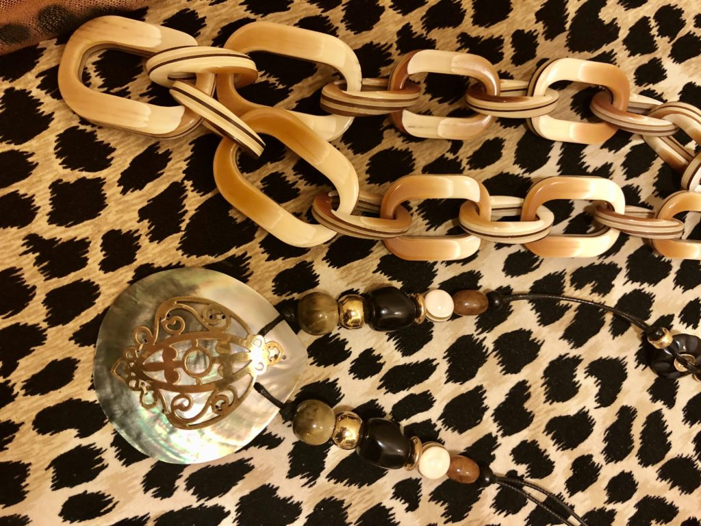 Pamela Lutrell with Chicos necklaces on over 50 Feeling 40
