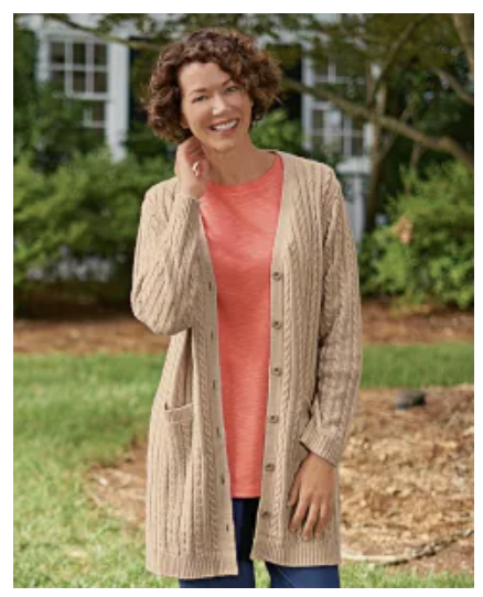 National Fall 2020 Cardigan on Over 50 Feeling 40