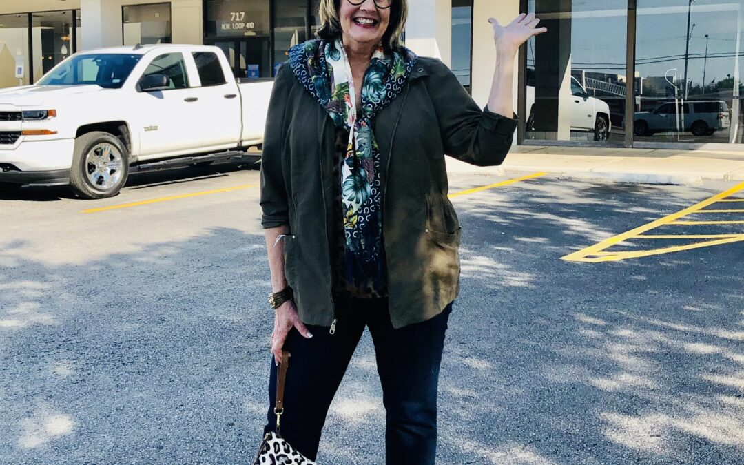 How I Style A Fall Utility Jacket Over 50 + A Goodwill Boutique Opens in San Antonio