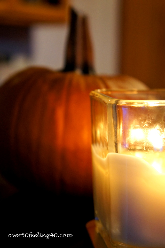 Autumn Candlelight on Over 50 Feeling 40