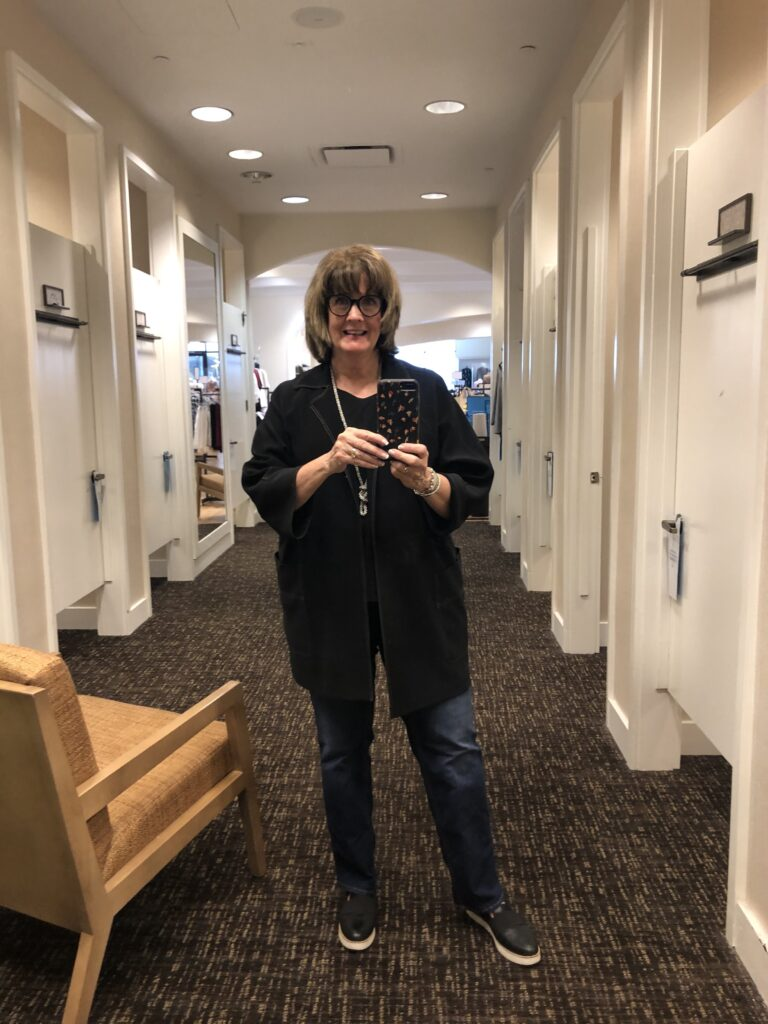 Over 50 Feeling 40 in Chico's sale jacket
