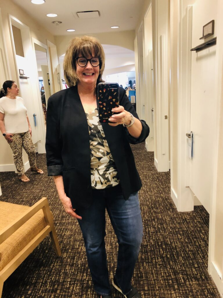 Over 50 Feeling 40 with Pamela Lutrell in Chico's Mesh Tank