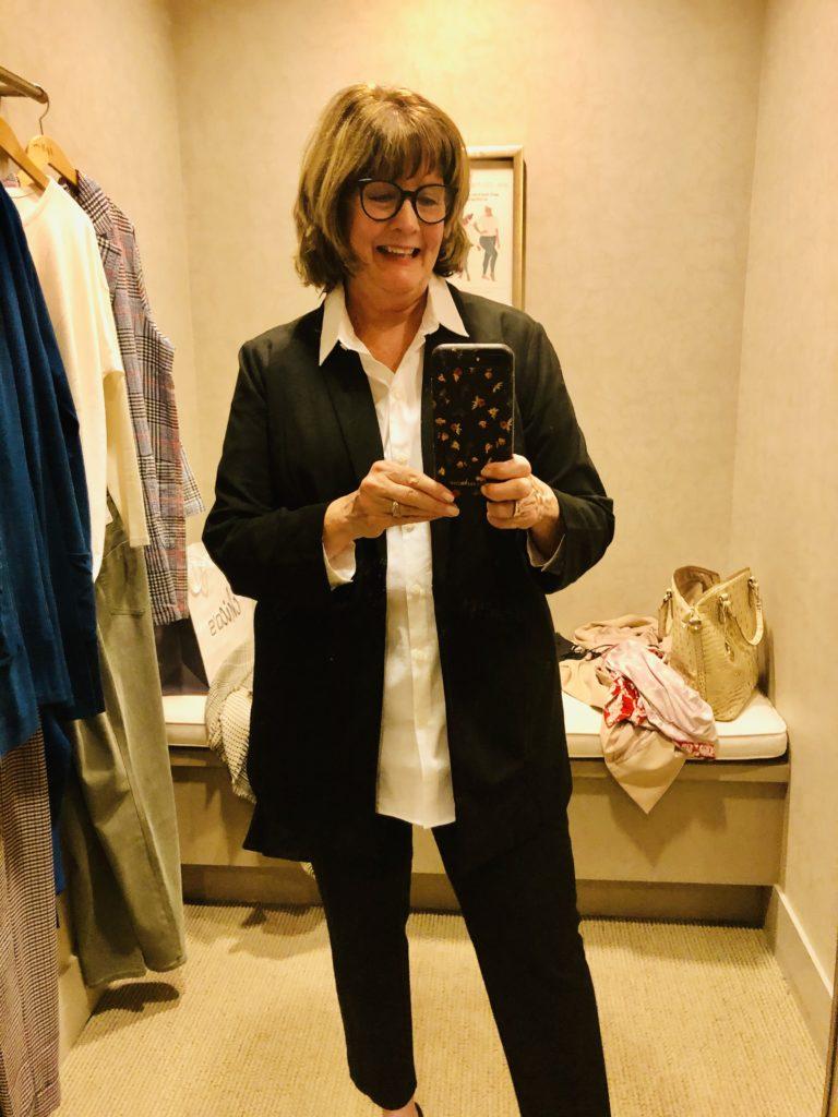 Pamela Lutrell in JJill on Over 50 Feeling 40