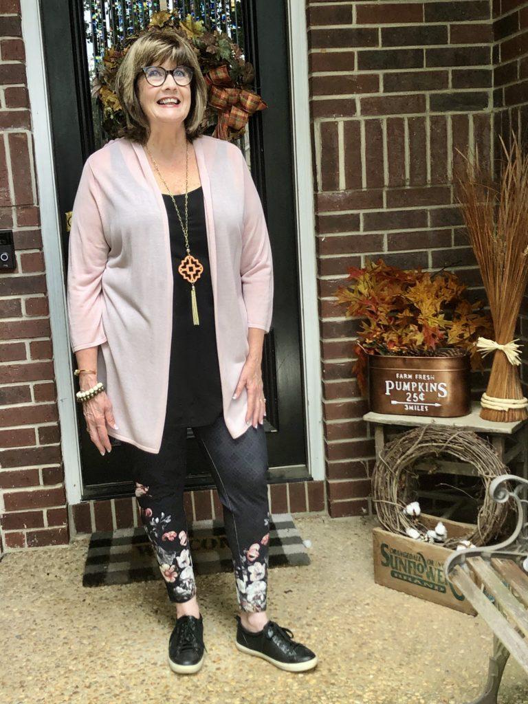 Soft Surroundings leggings on over 50 feeling 40