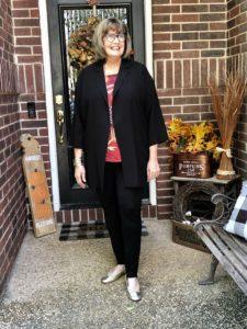 Pamela Lutrell in leggings on over 50 Feeling 40