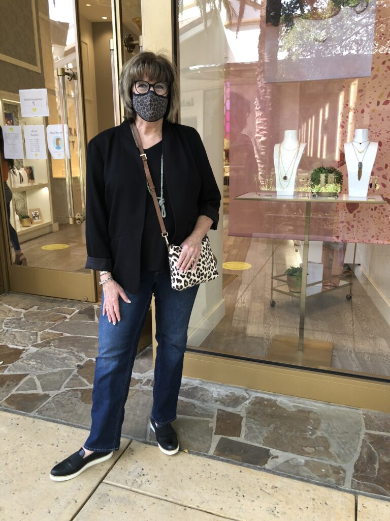 Pamela Lutrell shopping at the Shops at La Cantera in San Antonio