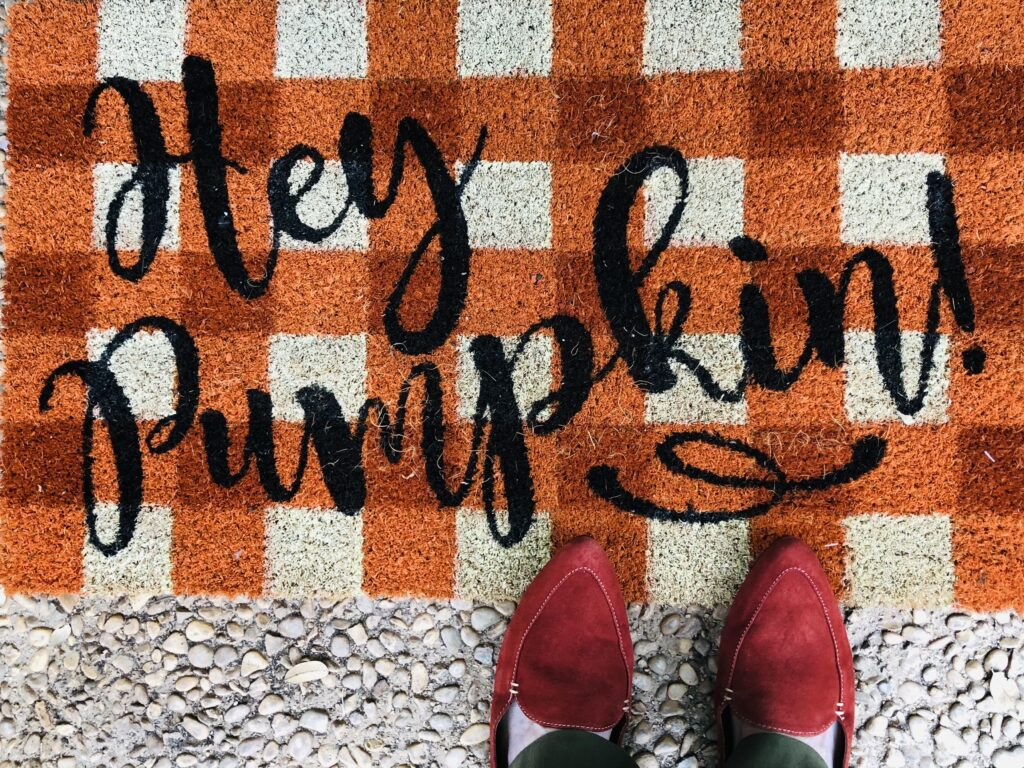 Pamela Lutrell wears colorful shoes for fall