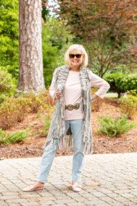 Robin LaMonte in boho chic on Over 50 Feeling 40