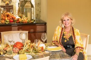 Robin La Monte with an autumn table on over 50 Feeling 40