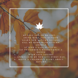 Pamela Lutrell's Autumn Bucket List