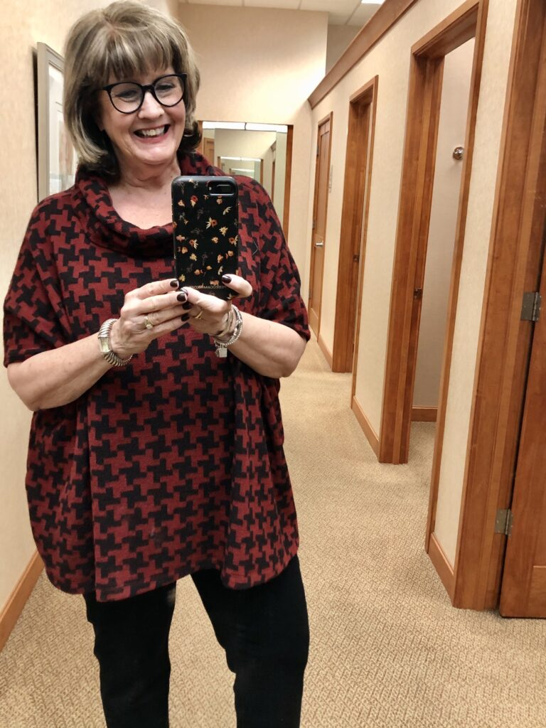 Pamela Lutrell with a casual relaxed week at Dillards