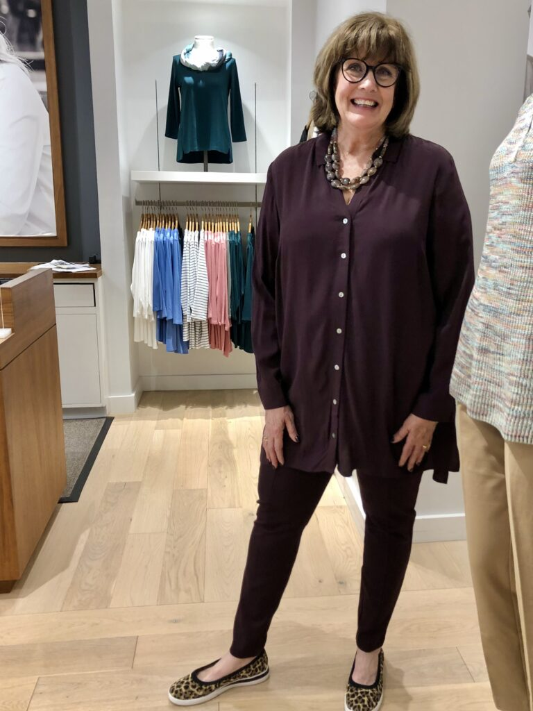 JJill Tunic for fall clothing on over 50 feeling 40