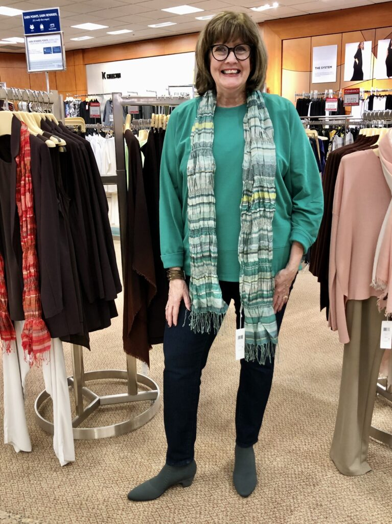 Eileen Fisher Fall Casual Style on Pamela Lutrell