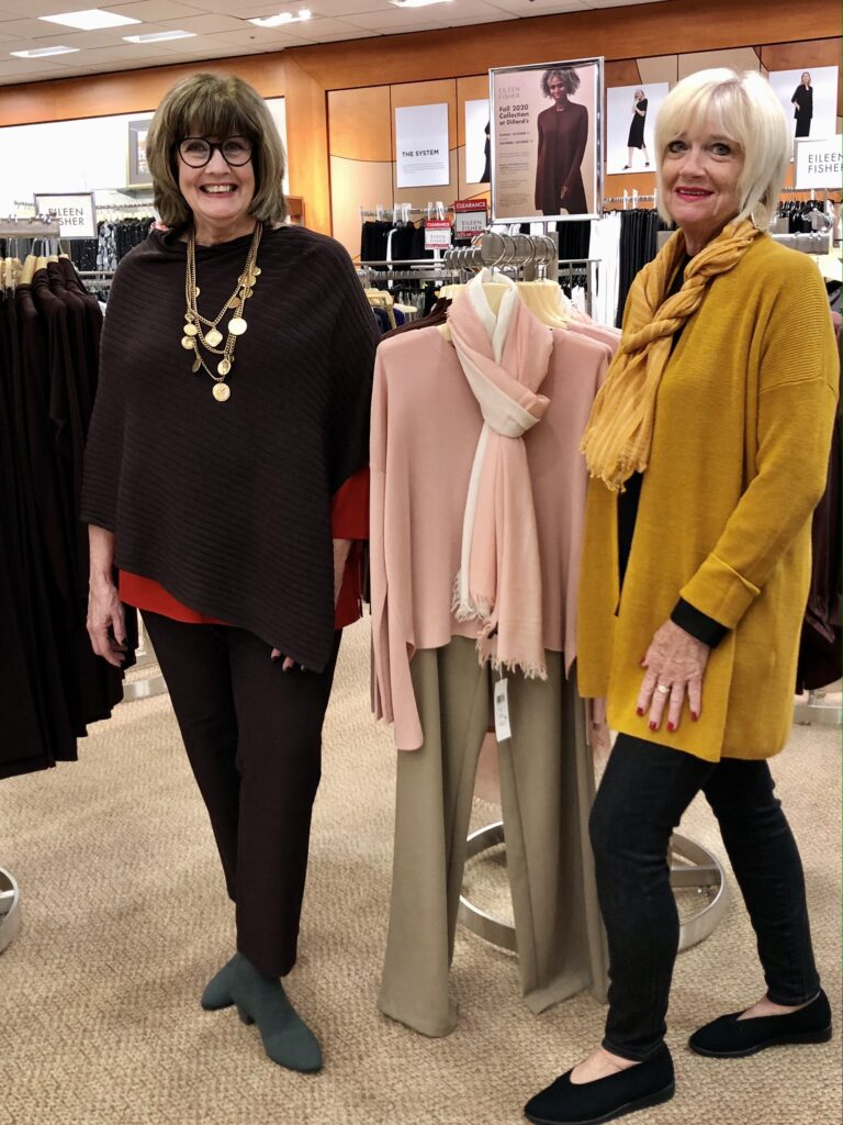 Pamela Lutrell in Eileen Fisher Brownstone at Dillard's