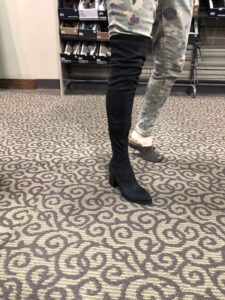 DSW Over the Knee Boot on Over 50 Feeling 40