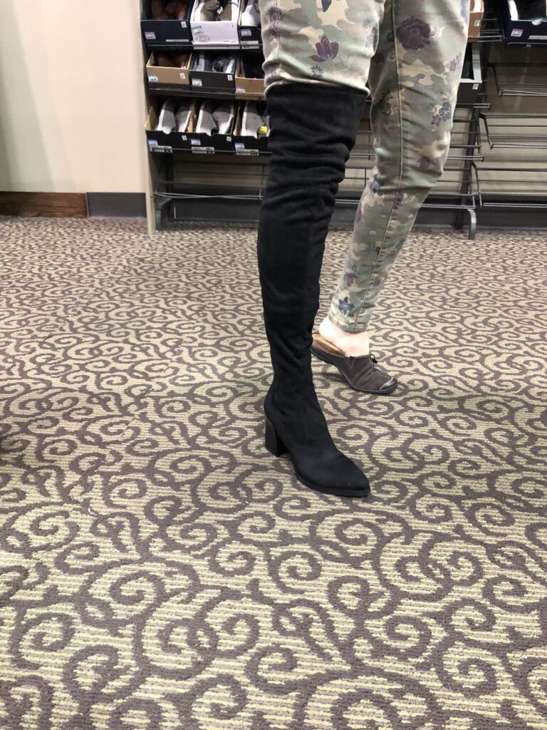 DSW Over the Knee Boot on Over 50 Feeling 40