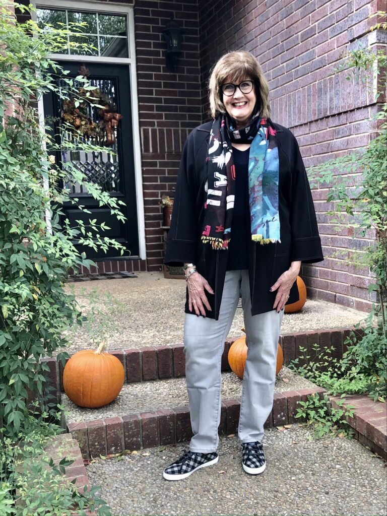 Pamela Lutrell styles a fall clothing outfit for 2020
