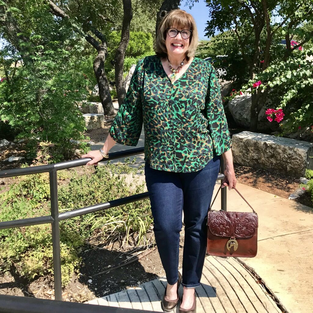 Pamela Lutrell in Fall Clothing For Chico's on over 50 feeling 40