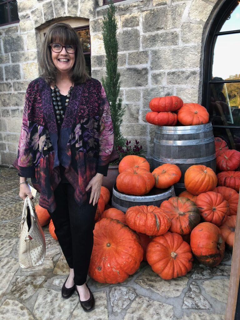 Pamela Lutrell at Becker Vineyard on over 50 feeling 40