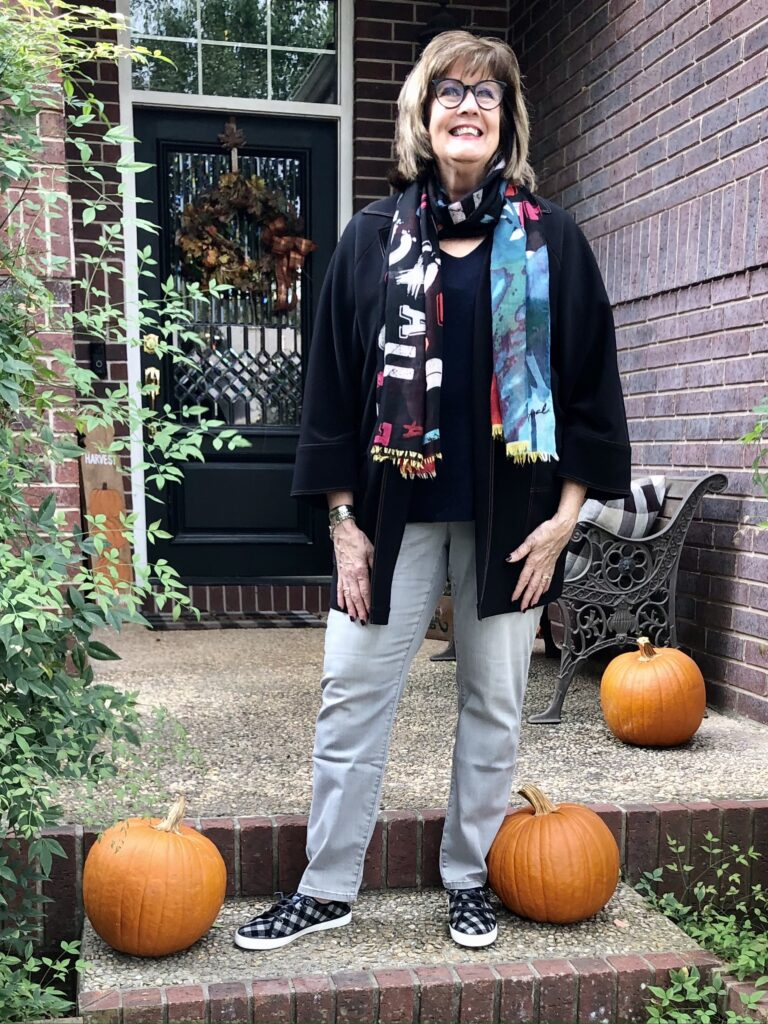 Pamela Lutrell in Fall Clothing at Chico's