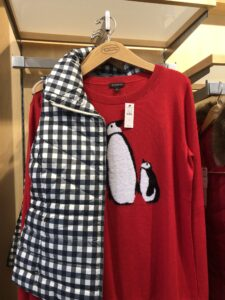 Gingam Check Puffer Vest at Talbots