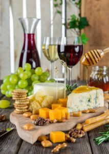 Elegant Wine and Cheese on Over 50 Feeling 40