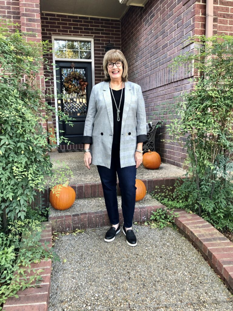 Pamela Lutrell wearing Nordstrom Rack on Over 50 Feeling 40