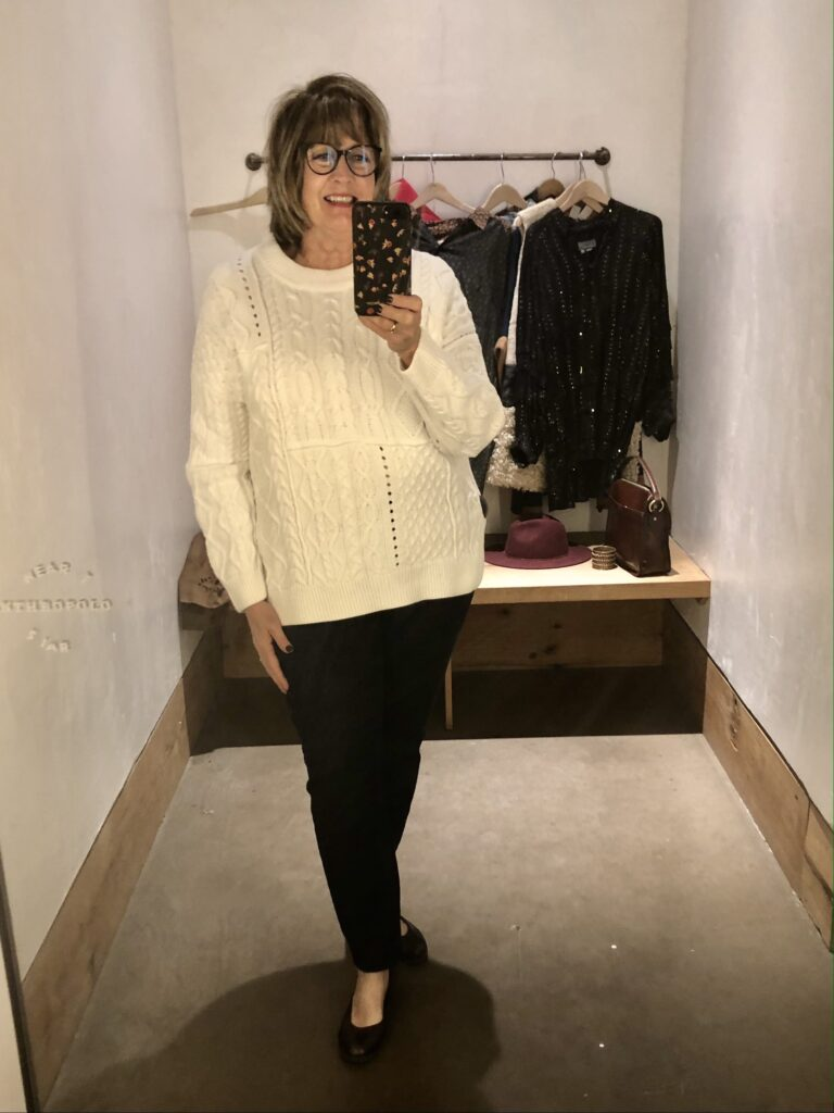 Anthropologie sweaters on over 50 Feeling 40