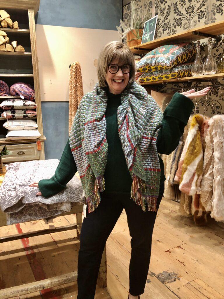 Pamela Lutrell in Anthropologie on over 50 feeling 40
