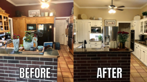 Pamela Lutrell's Before and After Kitchen