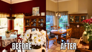 Breakfast Room Refresh on Over 50 Feeling 40