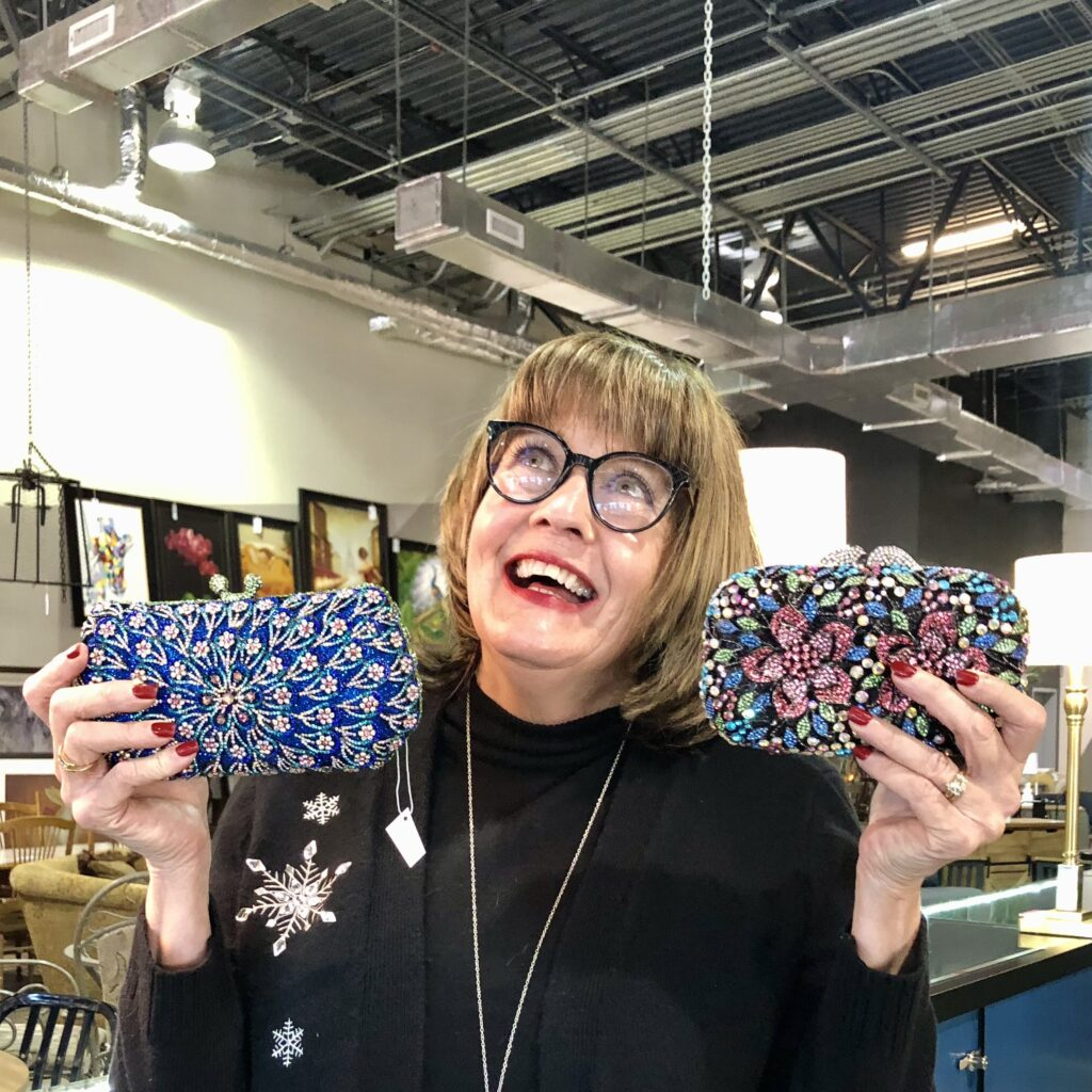 Pamela Lutrell at DazzleMe in San Antonio Home Consignment Shop