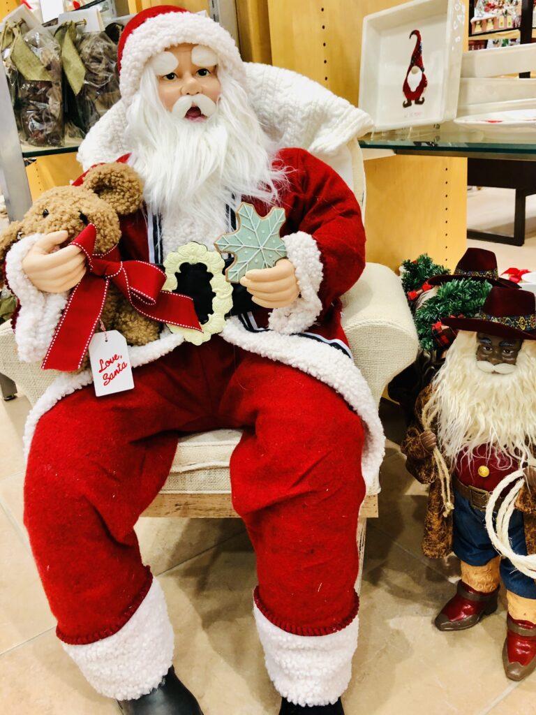 Santa decoration from Dillards on Over 50 Feeling 40