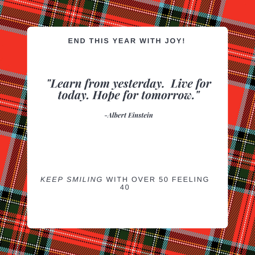 Holiday Joy quotes on Over 50 Feeling 40