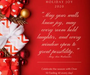Holiday Joy on over 50 Feeling 40