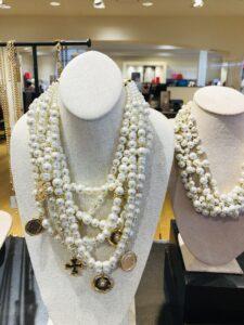 Chicos Multi Strand Faux Pearl Necklace
