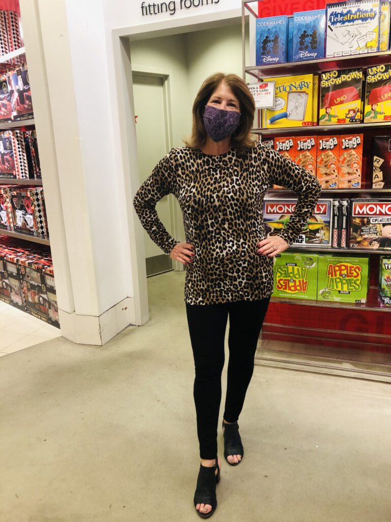 Michael Kors Leopard Print Tops on Over 50 Feeling 40