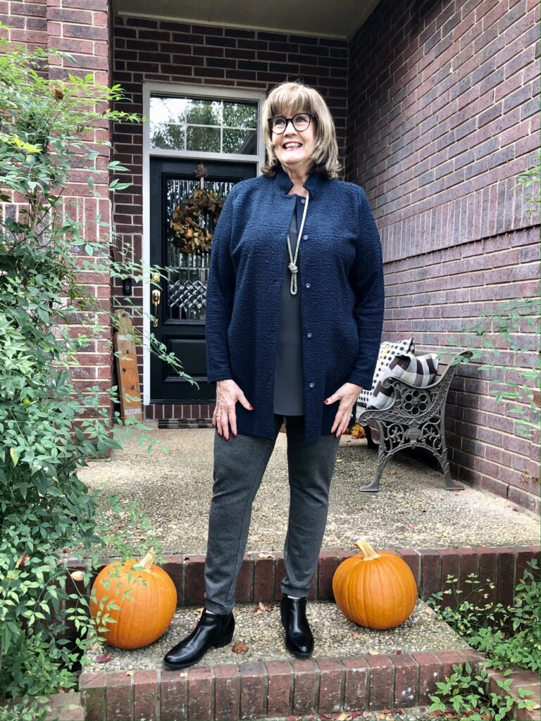 Pamela Lutrell in fall clothing for 2020