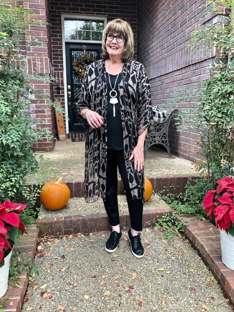 How to wear faux leather leggings on over 50 Feeling 40