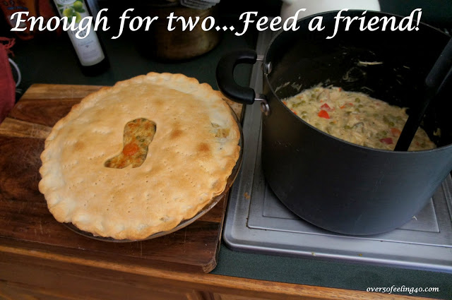 Chicken Pie for Two on Over 50 Feeling 40