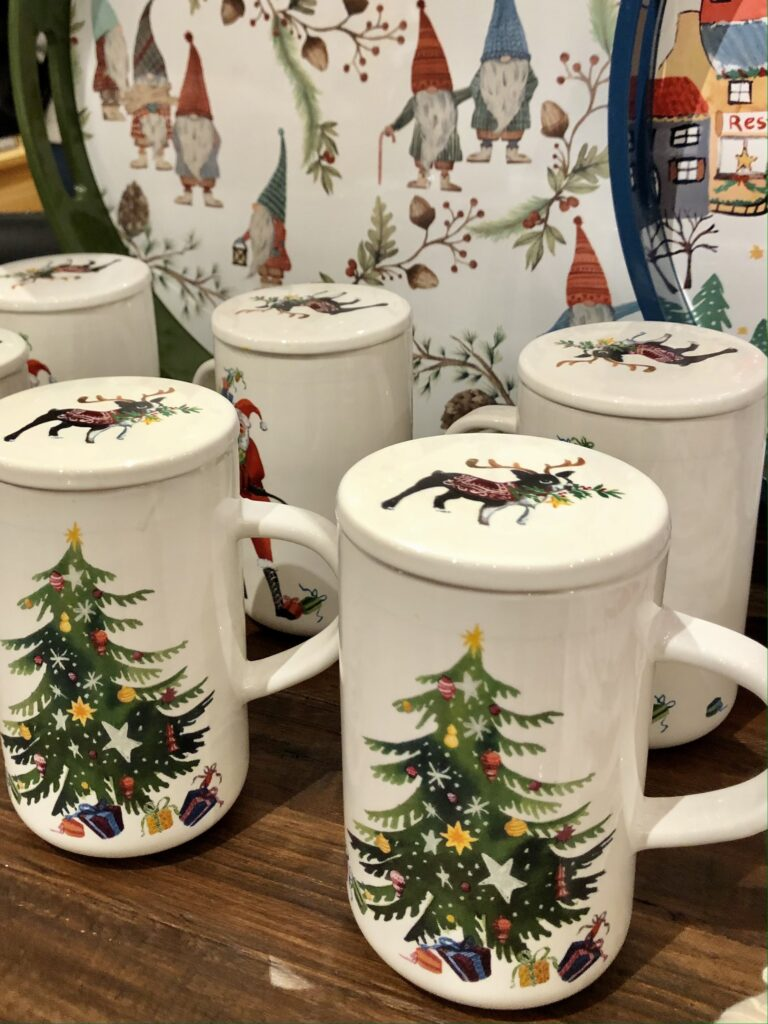 Holiday Mugs at Pottery Barn on Over 50 Feeling 40