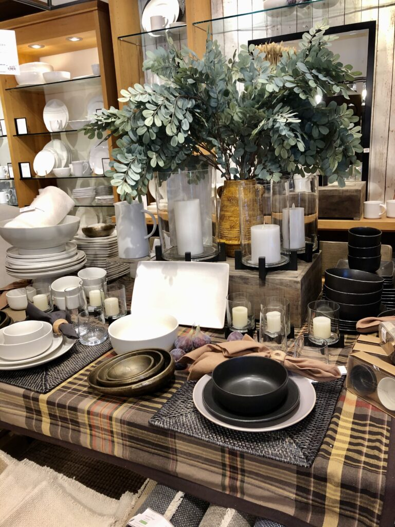 Table Decor ideas at Pottery Barn on Over 50 Feeling 40