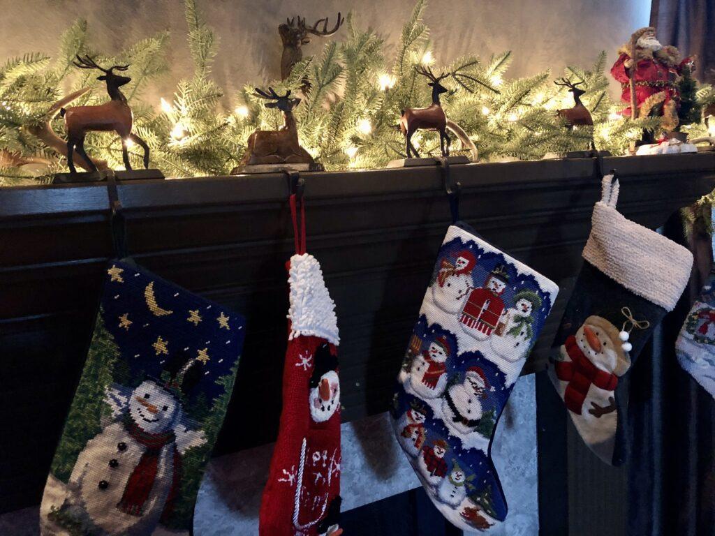 Snowman Stockings on over 50 Feeling 40