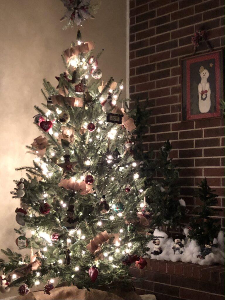 Real Christmas tree on over 50 feeling 40