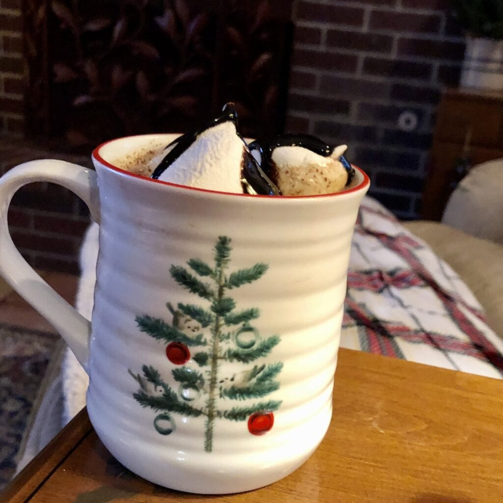 Decadent Hot Cocoa on Over 50 Feeling 40