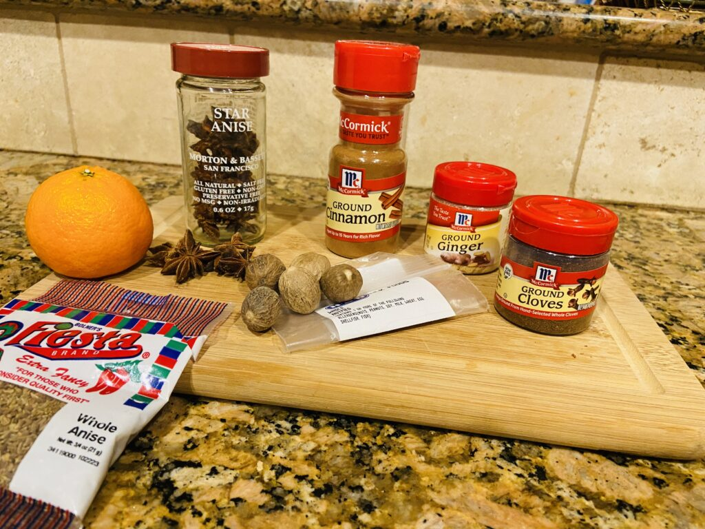 Ingredients for the French Spiced Bread on over 50 Feeling 40