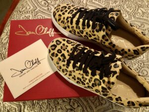 Joan Oloff Equality Leopard Kid Suede Sneakers