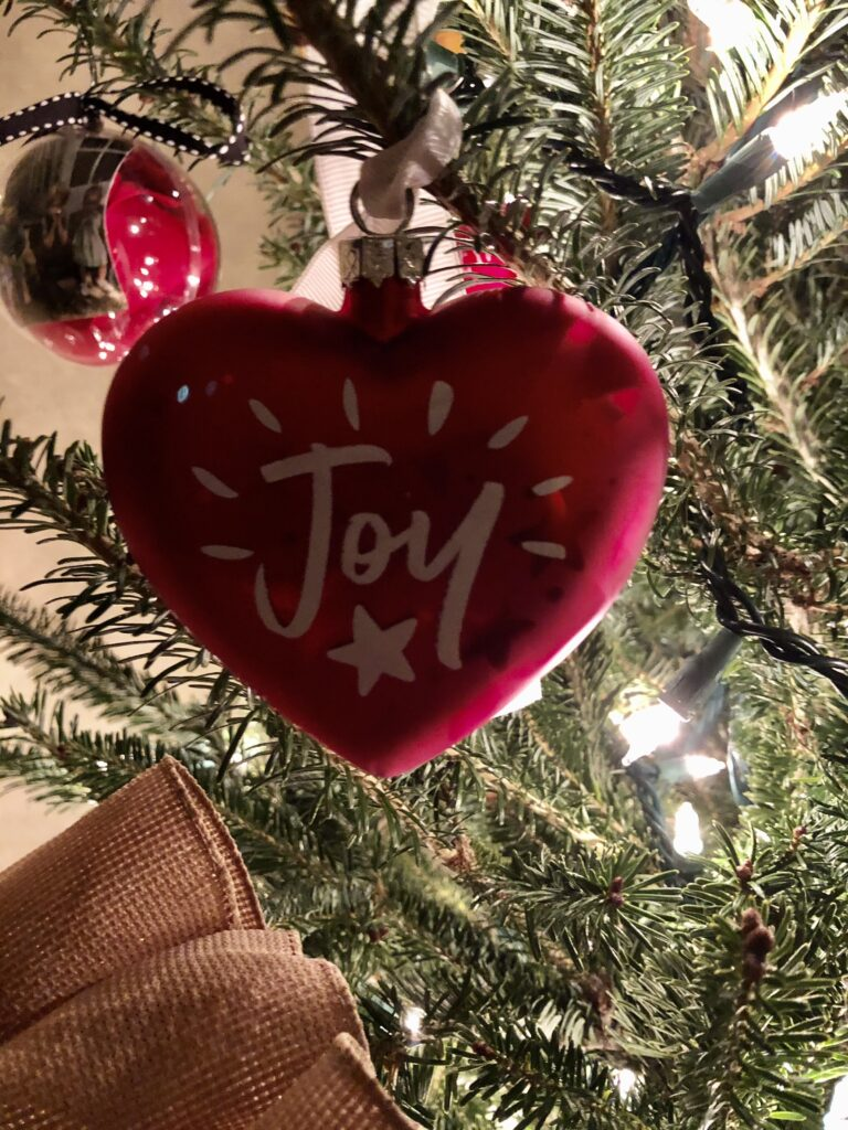 My joy ornament on over 50 Feeling 40