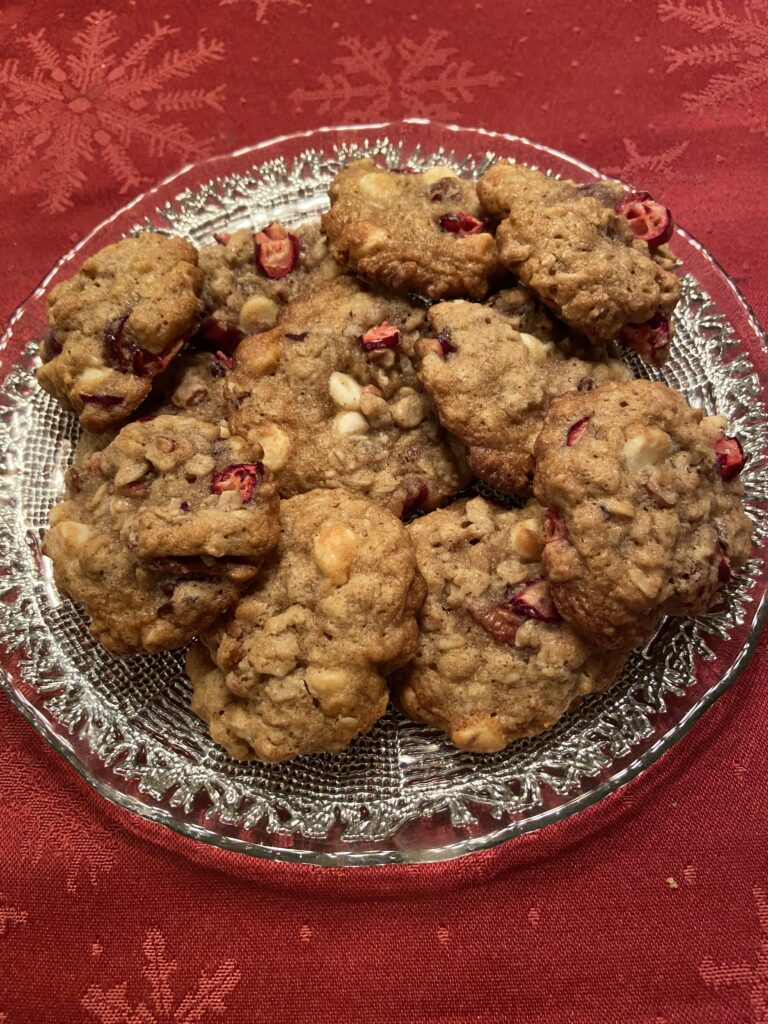 Cranberry Oatmeal Cookies on Over 50 Feeling 40