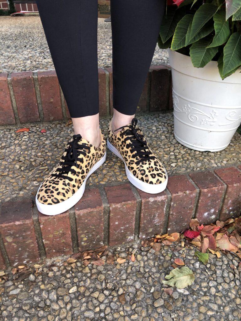 Joan Oloff Equality Leopard Sneakers